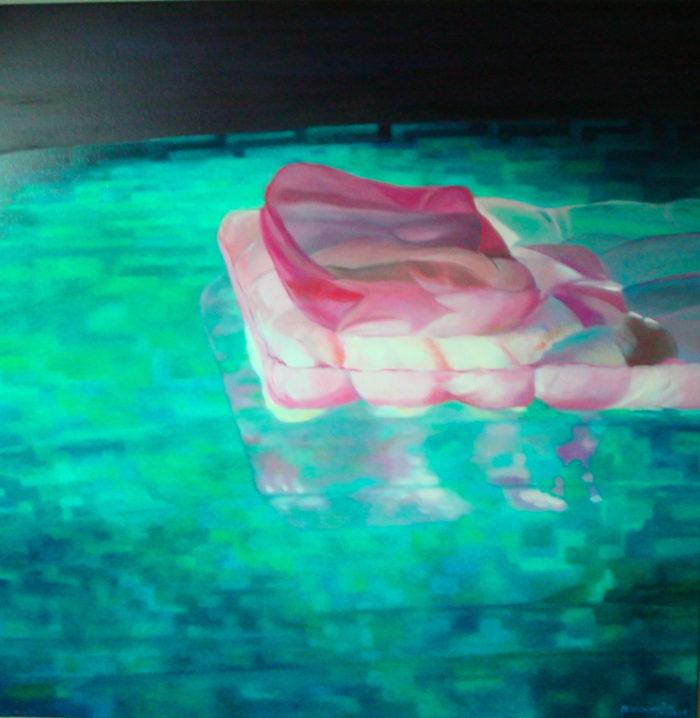 zwembad met luchtbed 3